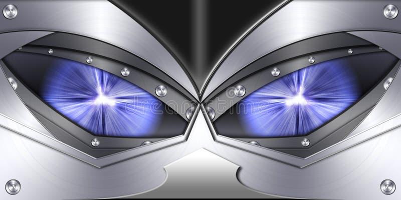 De abstracte achtergrond van het robotoog royalty-vrije illustratie