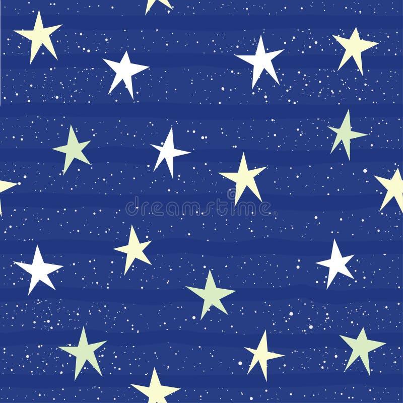 De abstracte Achtergrond van het Ster Naadloze Patroon Hand - gemaakte ster isolat royalty-vrije illustratie