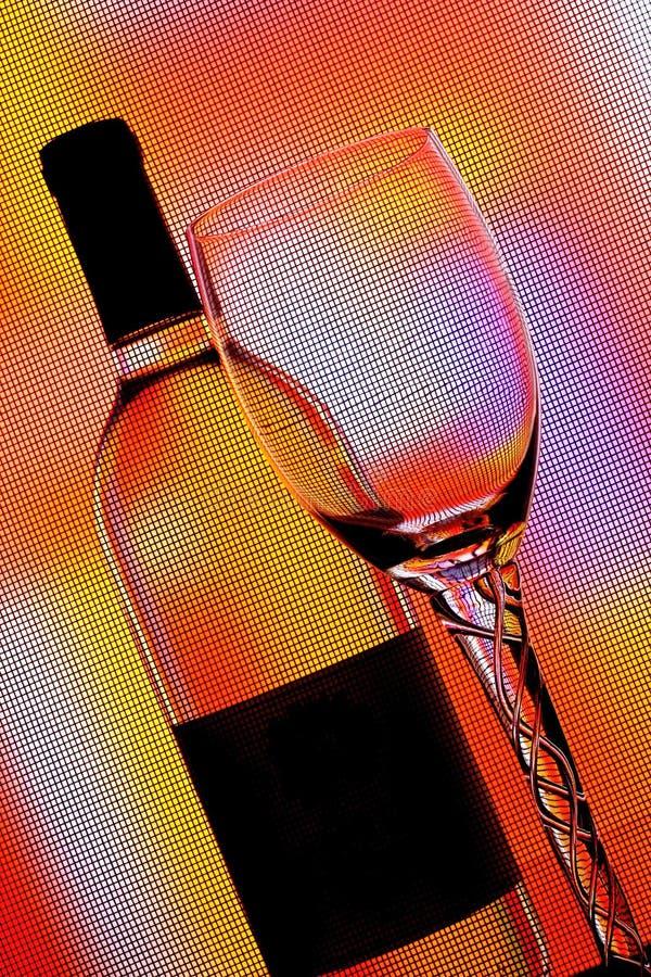 De abstracte achtergrond van het wijnglaswerk stock afbeelding
