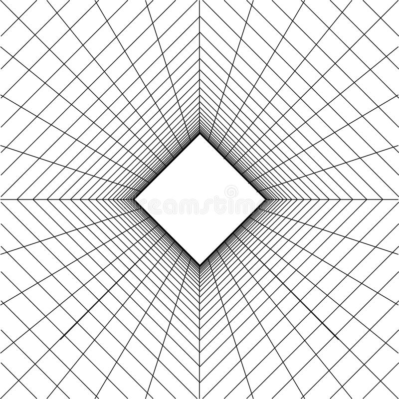 De abstracte achtergrond van het wireframenet vector illustratie