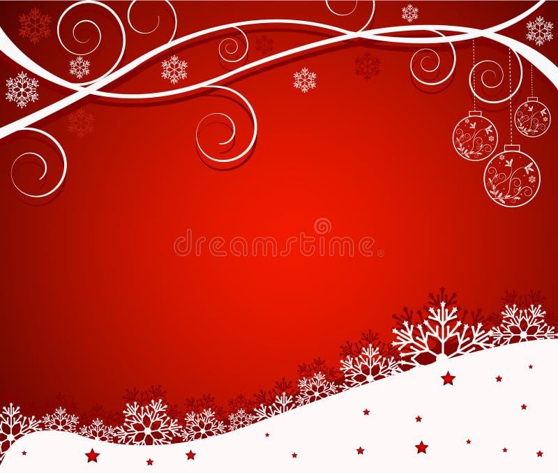De abstracte achtergrond van Kerstmis - vector stock illustratie