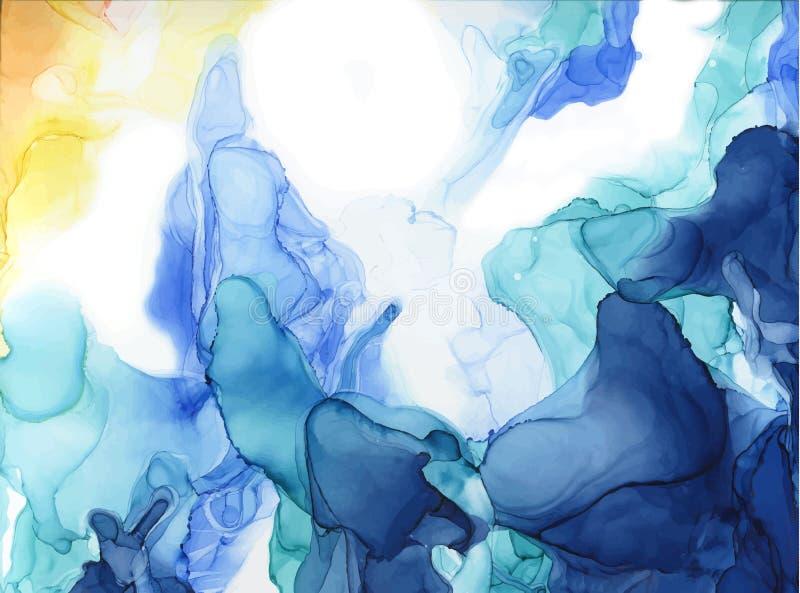 De abstracte achtergrond van de kleureninkt vector illustratie