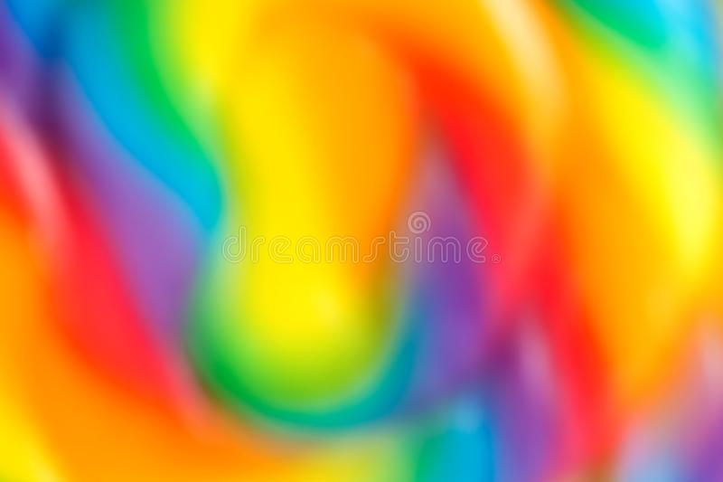 De abstracte achtergrond van de kleurenregenboog, onduidelijk beeld royalty-vrije stock afbeelding