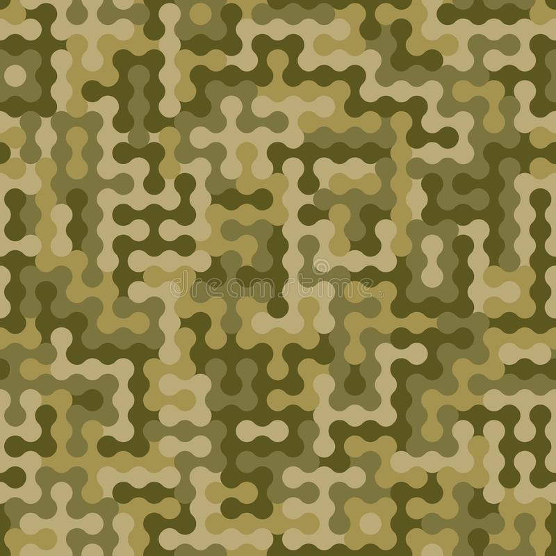 De abstracte achtergrond van de militaire of de jachtcamouflage Naadloos patroon royalty-vrije illustratie