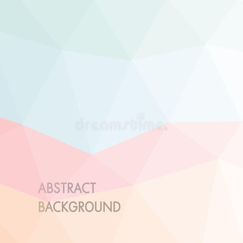 De Abstracte Achtergrond van de pastelkleur royalty-vrije illustratie