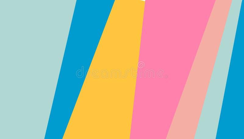 De abstracte achtergrond van patroon heldere gekleurde strepen voor dekkingsontwerp Vectorontwerpsjabloon voor vlieger, pamflet,  royalty-vrije illustratie