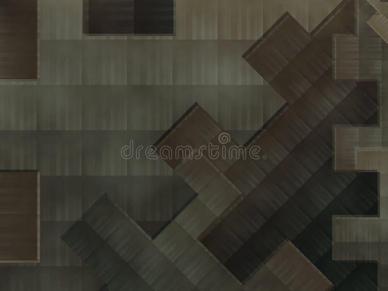 De abstracte achtergrond van raadselstukken vector illustratie