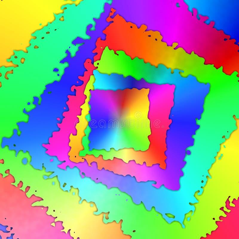 De abstracte achtergrond van regenboogkaders vector illustratie
