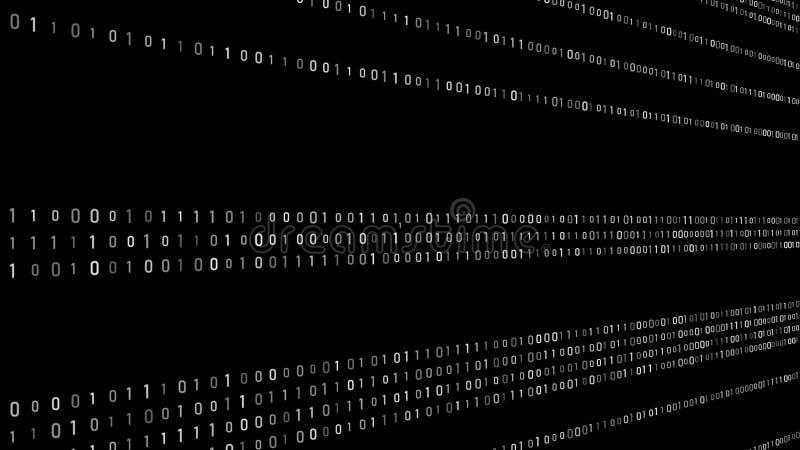 De abstracte achtergrond van de technologie binaire code De code van de computer Digitale Stroom Het grote gegevens en programmer stock illustratie
