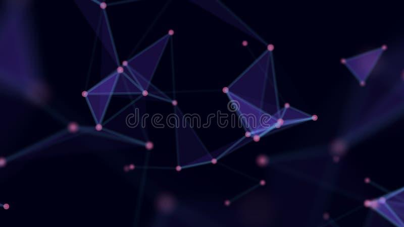 De abstracte Achtergrond van de Technologie Netwerkverbindingen met punten en lijnen Ai van het de draadnetwerk van technologie f vector illustratie