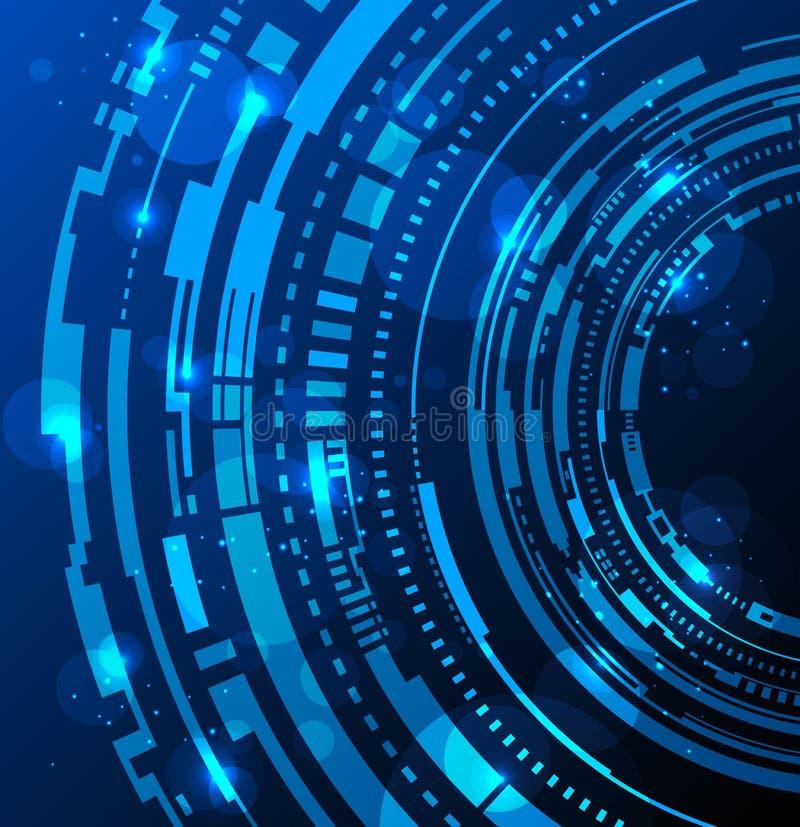 De abstracte achtergrond van technologiecirkels