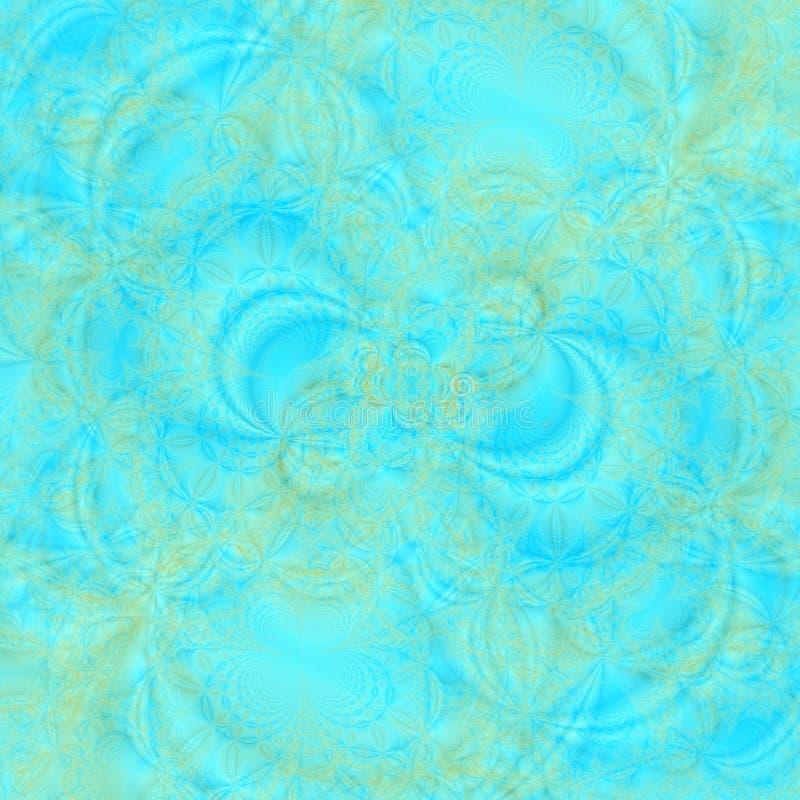 De abstracte achtergrond van Transluscent in schaduwen van aqua en goud stock illustratie