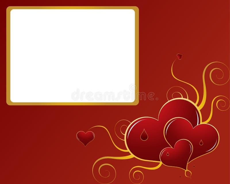 De abstracte achtergrond van valentijnskaarten royalty-vrije illustratie