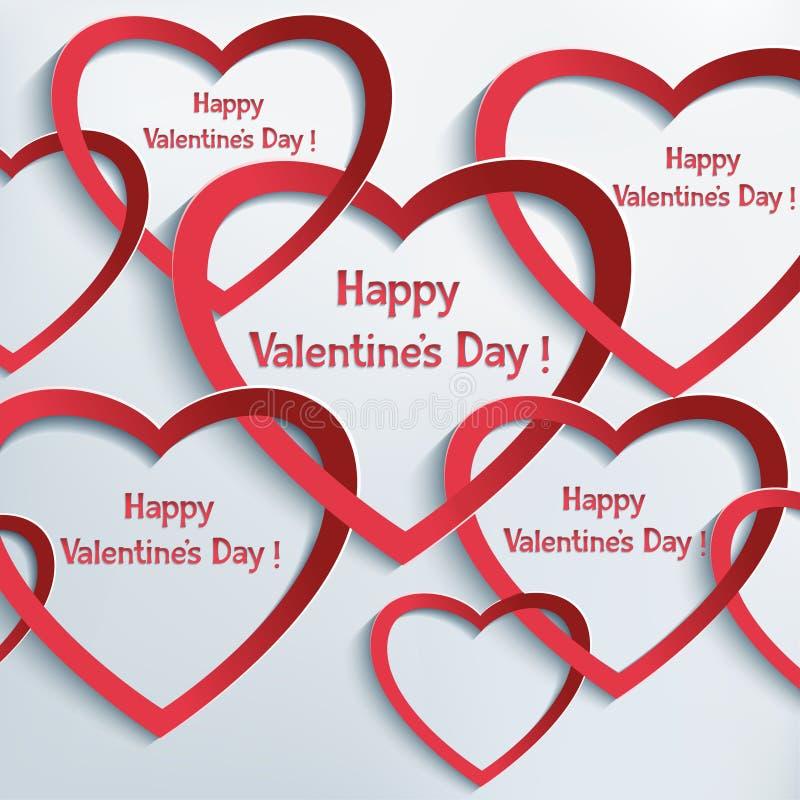De abstracte achtergrond van de valentijnskaartendag royalty-vrije illustratie