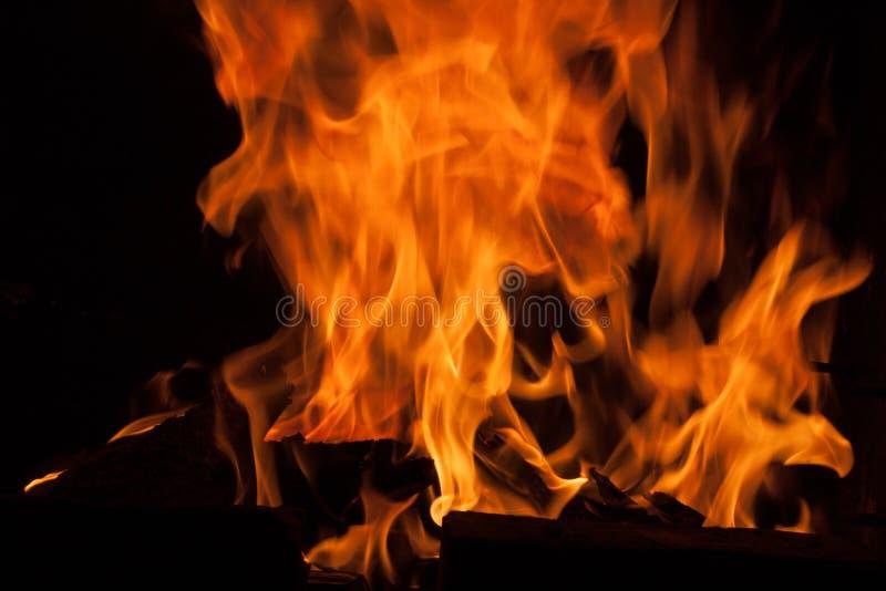 De abstracte achtergrond van de de vlamtextuur van de uitbarstingsbrand stock afbeeldingen