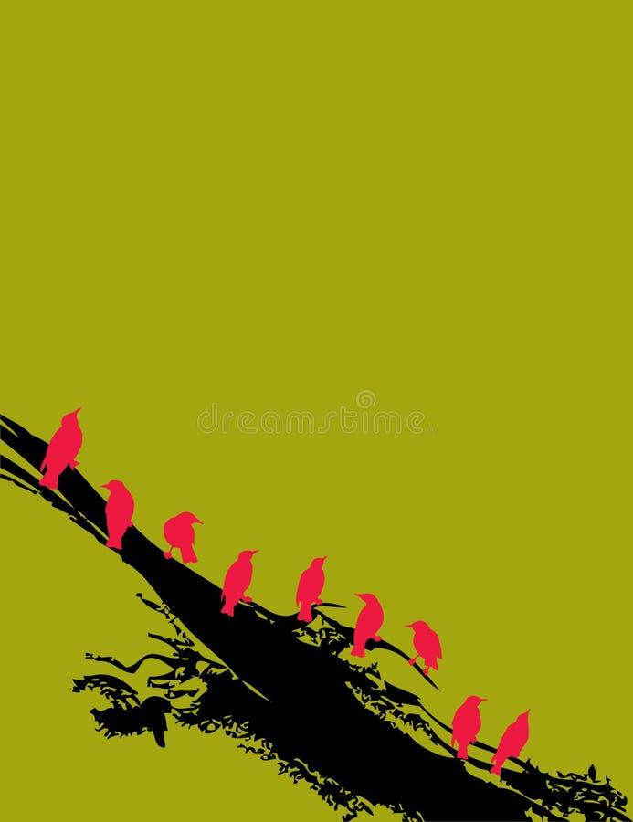 De abstracte Achtergrond van Vogels vector illustratie