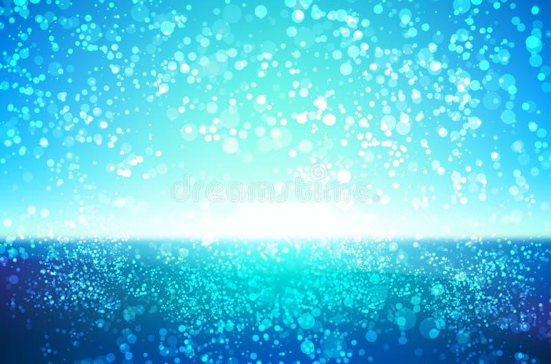 De abstracte achtergrond van water kleurrijke bokeh royalty-vrije illustratie