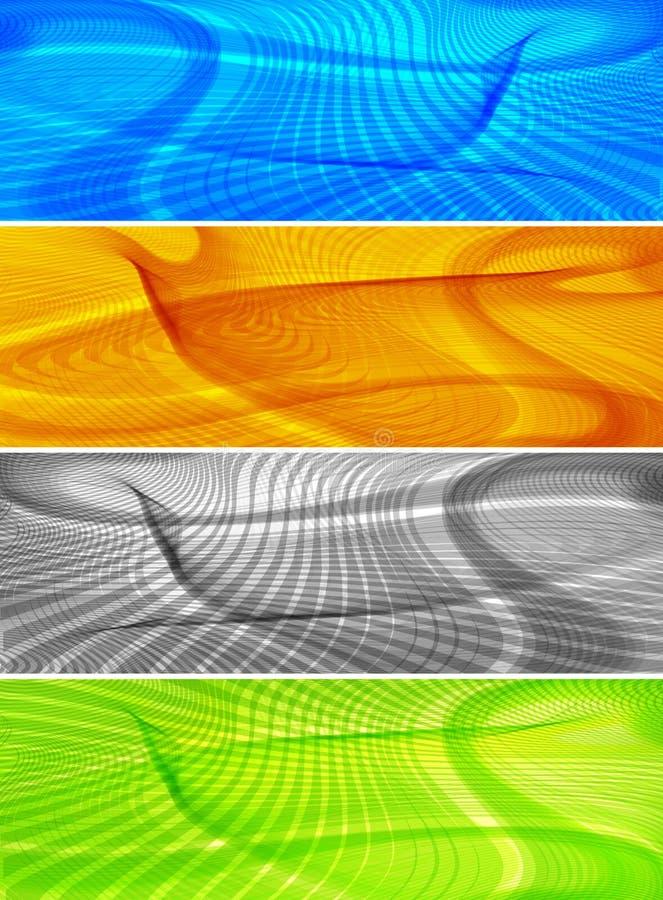De abstracte achtergronden van de lijnkunst, banners vector illustratie