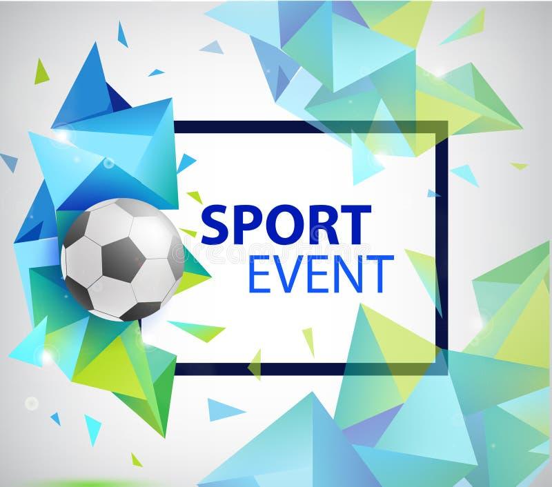 De abstracte affiche van de voetbalvoetbal, vlieger, kaart, uitnodiging royalty-vrije illustratie
