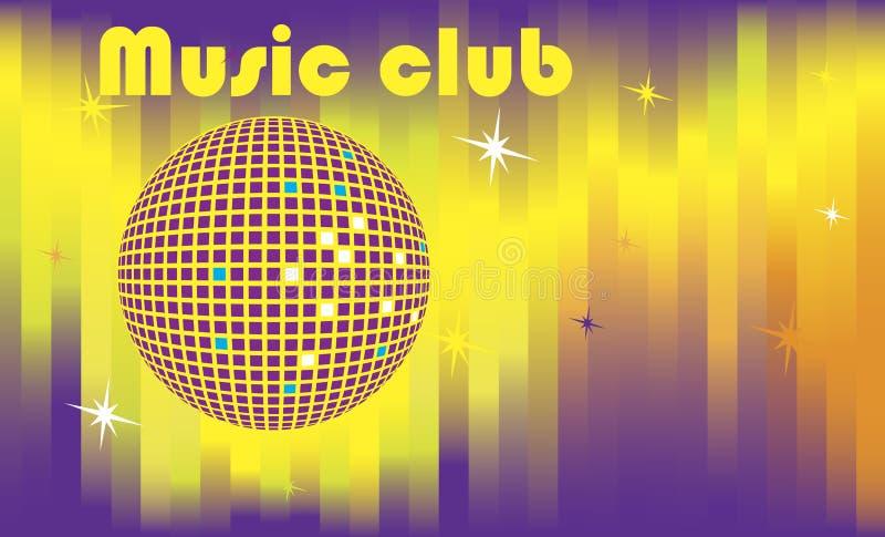 De abstracte banner van de dansclub royalty-vrije illustratie