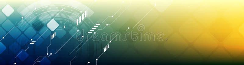 De abstracte banner van de het Webkopbal van het technologieconcept heldere stock illustratie