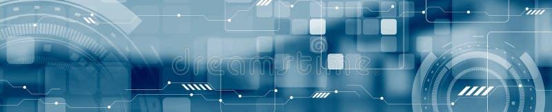 De abstracte banner van de het Webkopbal van het technologieconcept industriële royalty-vrije illustratie