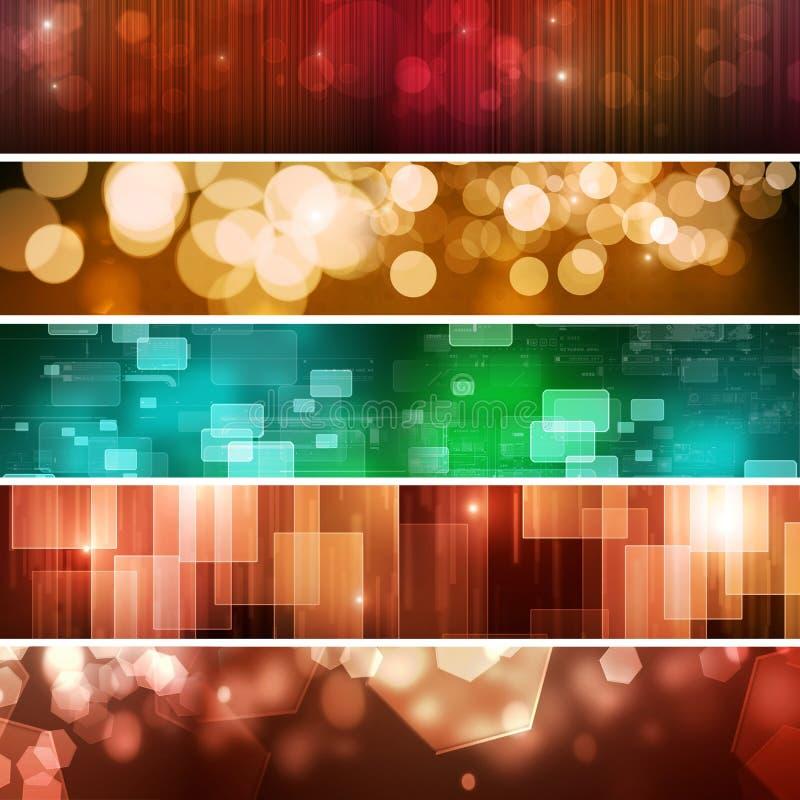 De abstracte Banners van de Technologie royalty-vrije illustratie