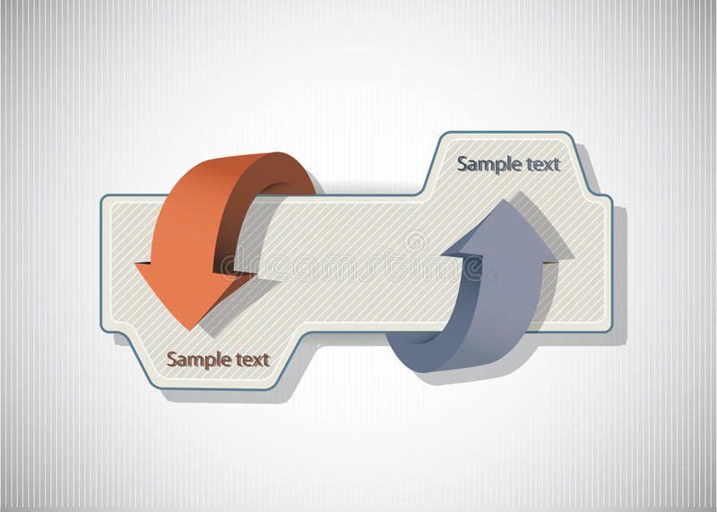 De abstracte Banners van het Web met pijl vector illustratie