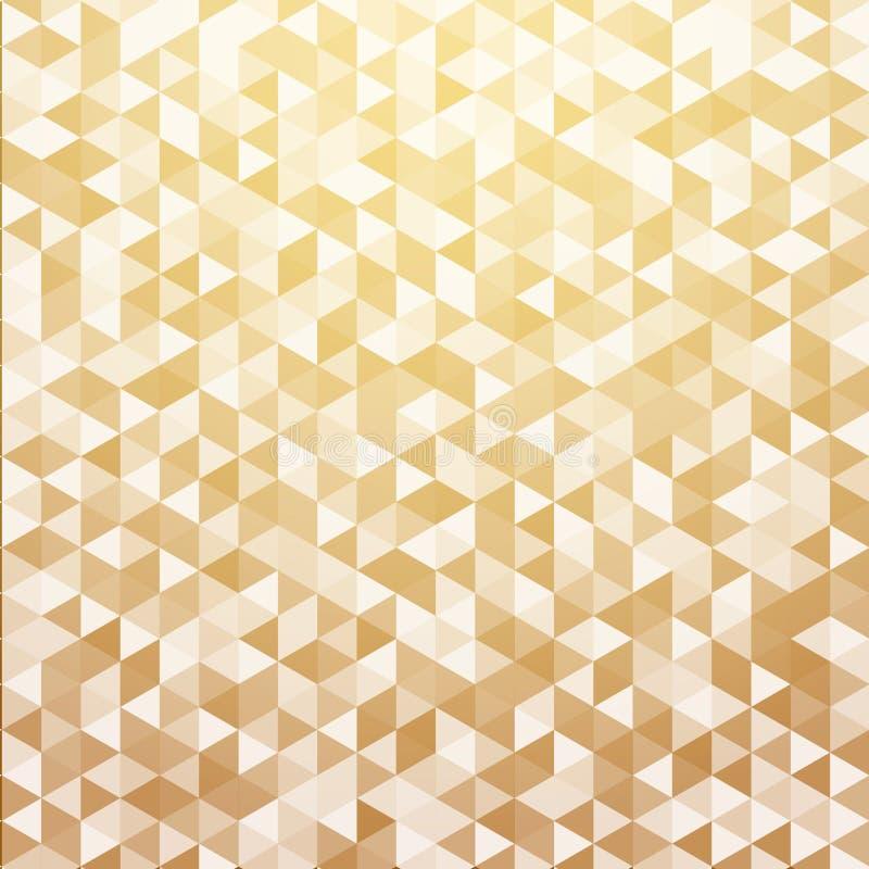 De abstracte bedelaars van de het patroon gouden kleur van de luxe gestreepte geometrische driehoek vector illustratie