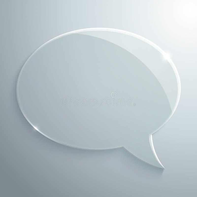 De abstracte Bel van de Glastoespraak stock illustratie