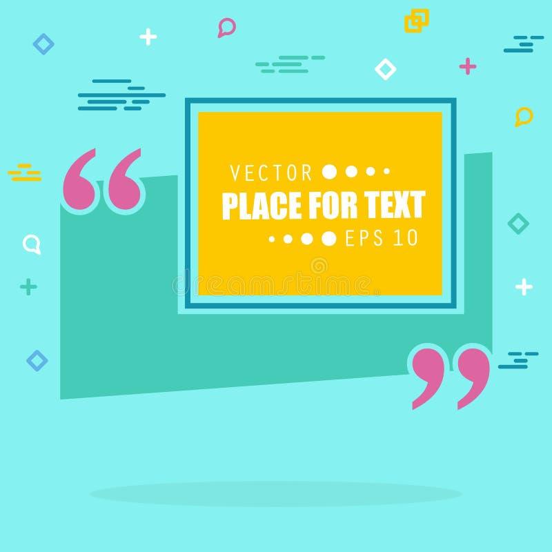 De abstracte bel van de het citaattekst van de concepten lege toespraak vierkante Voor Web en mobiele app op achtergrond, illustr stock fotografie