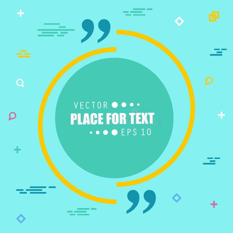 De abstracte bel van de het citaattekst van de concepten lege toespraak vierkante Voor Web en mobiele app op achtergrond, illustr royalty-vrije stock afbeeldingen