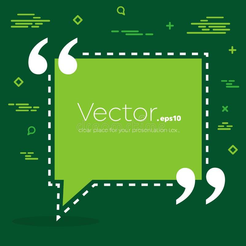 De abstracte bel van de het citaattekst van de concepten vector lege toespraak vierkante Voor Web en mobiele app op achtergrond stock illustratie