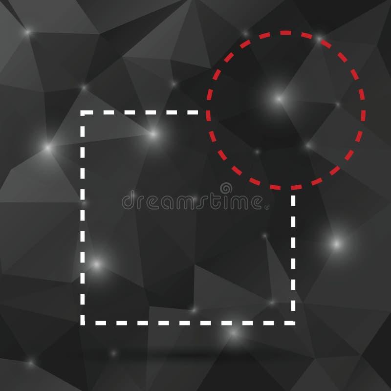 De abstracte bel van de het citaattekst van de concepten lege toespraak vierkante Voor Web en mobiele toepassing op achtergrond,  vector illustratie