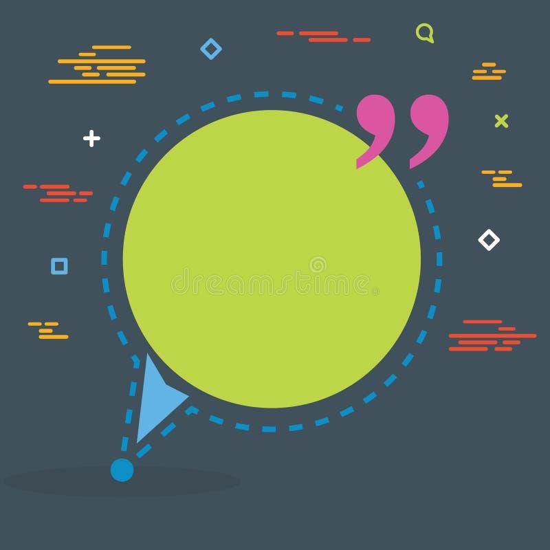 De abstracte bel van de het citaattekst van de concepten lege toespraak vierkante Voor Web en mobiele toepassing op achtergrond,  stock foto