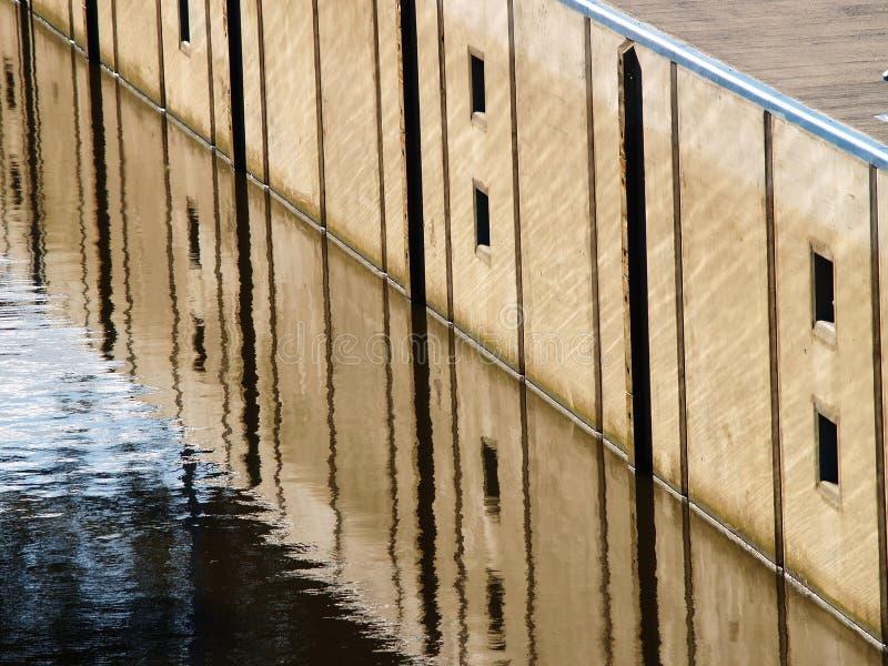 De abstracte bezinning van de Baai stock afbeelding