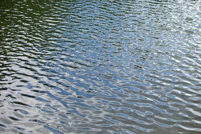 De abstracte bezinning van het kleurenwater De zomer stock fotografie