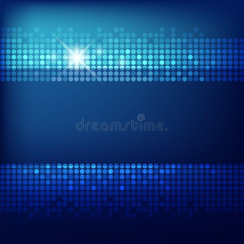 De abstracte blauwe achtergrond van de Technologie stock illustratie