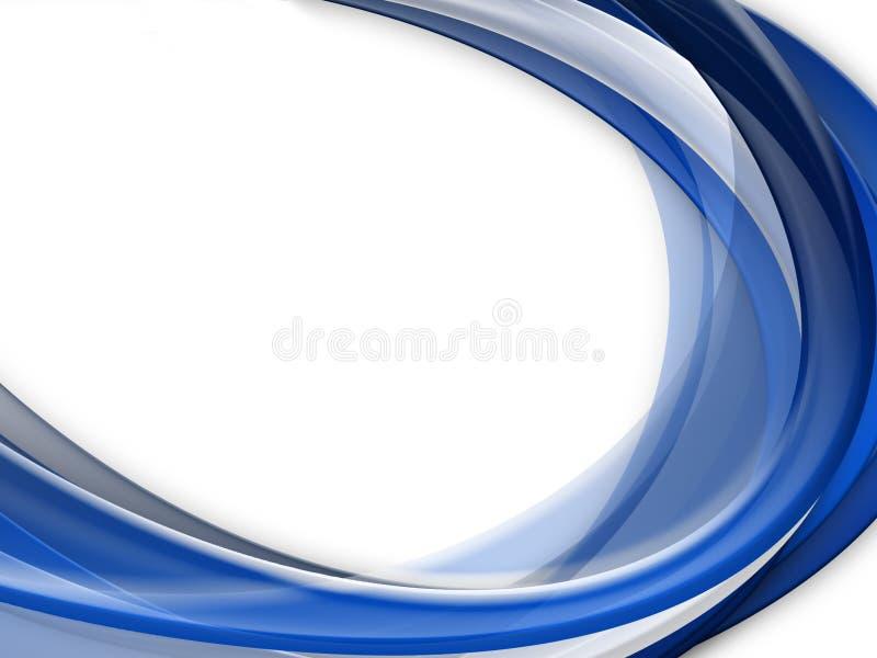 De abstracte blauwe achtergrond van de golflijn vector illustratie