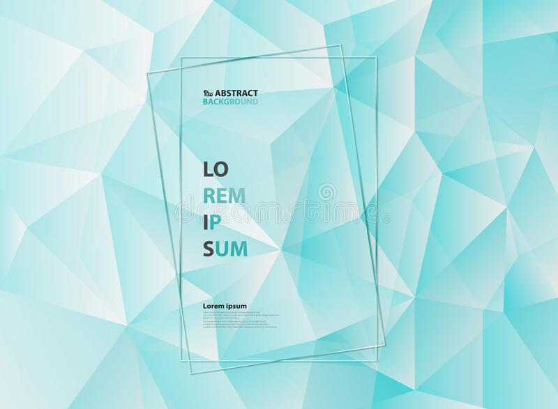 De abstracte blauwe achtergrond van het het patroonontwerp van de ijs veelhoekige driehoek geometrische Illustratie vectoreps10 royalty-vrije illustratie