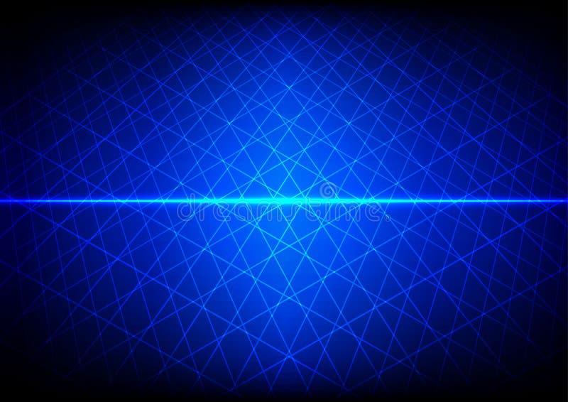 De abstracte Blauwe achtergrond van het technologienet illustratie DE stock illustratie