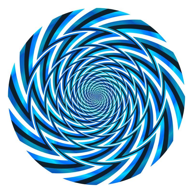 De abstracte blauwe bal van de machtsdraaikolk stock afbeelding