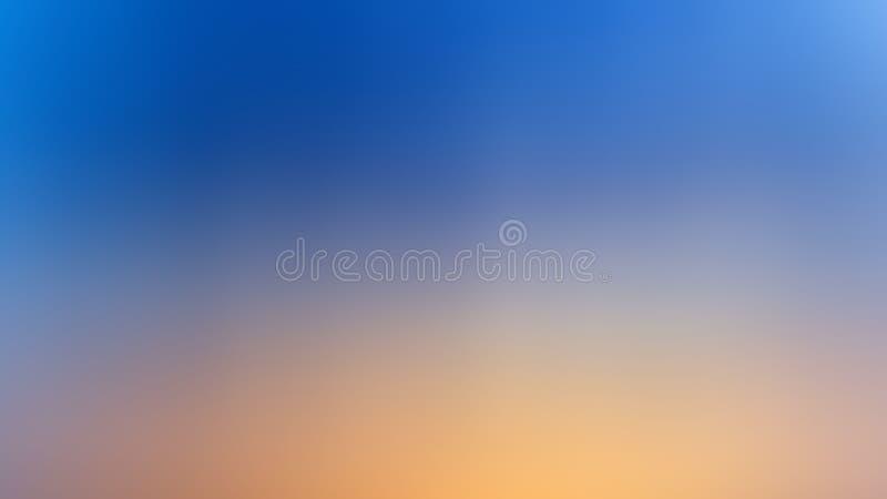 De abstracte blauwe en gele kleur van de onduidelijk beeld backgroud gradiënt royalty-vrije stock afbeeldingen