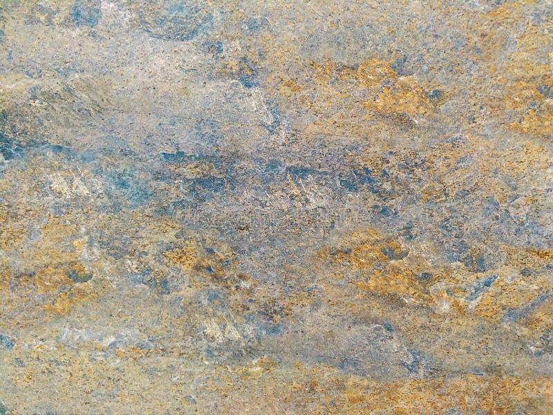 De abstracte blauwe gele, Kleurrijke achtergrond van de muurkleur stock foto