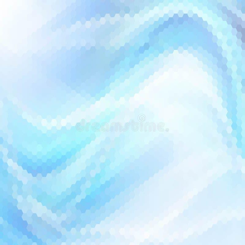 De abstracte blauwe geometrische achtergrond van de veelhoekdriehoek, Geometrische driehoeks veelhoekige blauwe Vector Geometrisc royalty-vrije illustratie