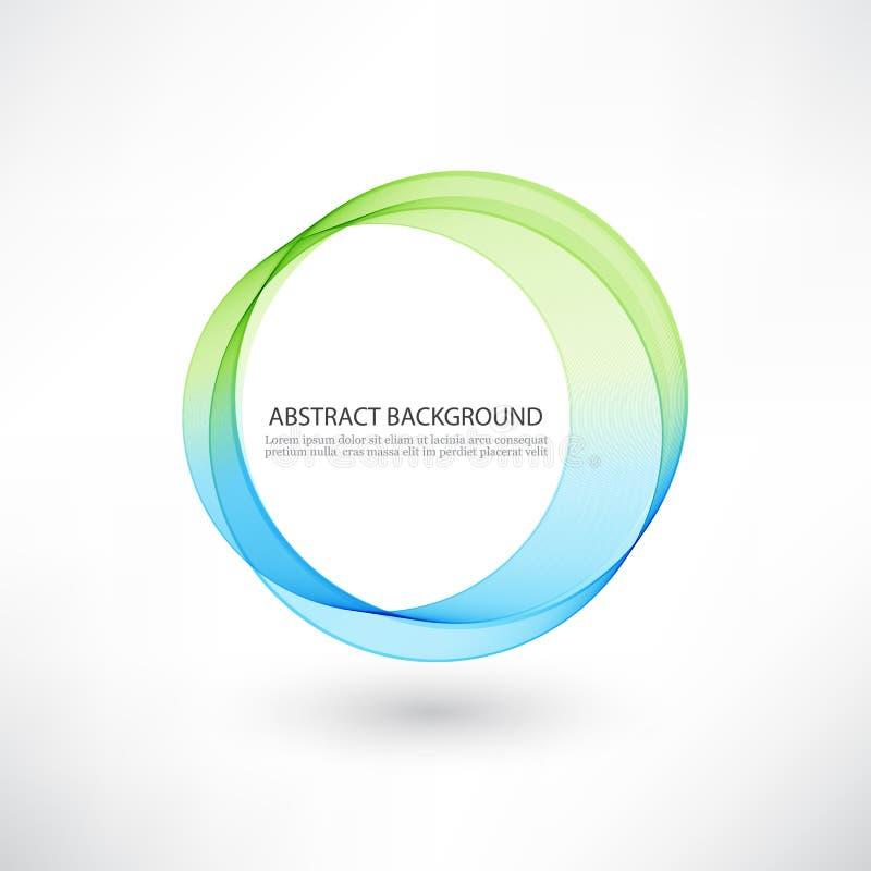 De abstracte blauwe, groene heldere achtergrond van de wervelingscirkel vector illustratie