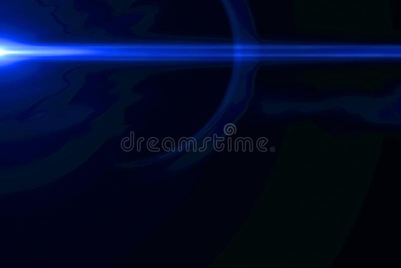 De abstracte blauwe lichte impulsen en de gloed lekken motieachtergrond, met de beweging van defocus horizontale lijnen vector illustratie
