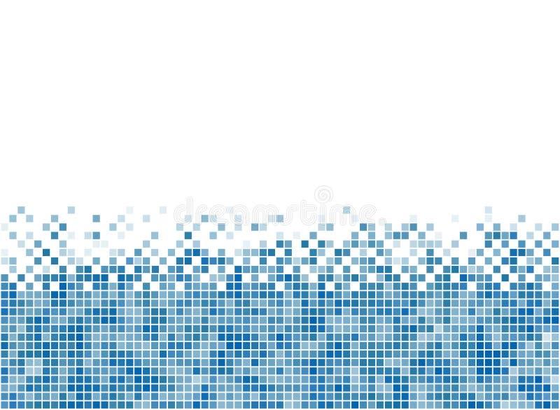 De abstracte blauwe streep van de mozaïekbodem royalty-vrije illustratie