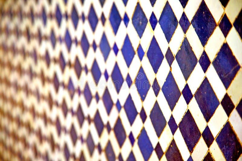 de abstracte blauwe textuur van Marokko royalty-vrije stock foto