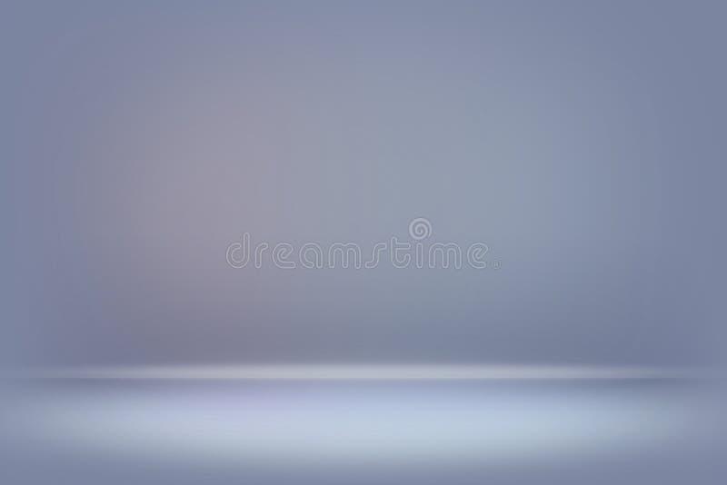 De abstracte blauwe vage vlotte muur van de achtergrondkleurengradiënt stock foto's